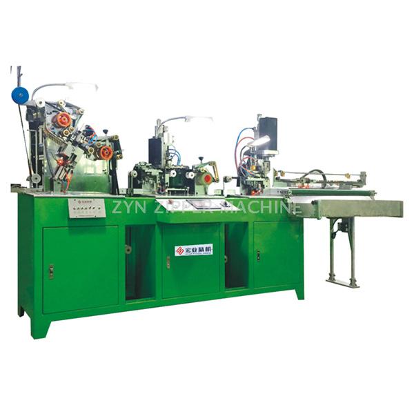 HY-880J 全自动金属拉链三段工序连体机(穿头、上止、切断)